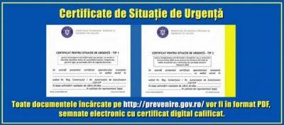 Procedura de obținere a Certificatelor de Situație de Urgență (C.S.U.)