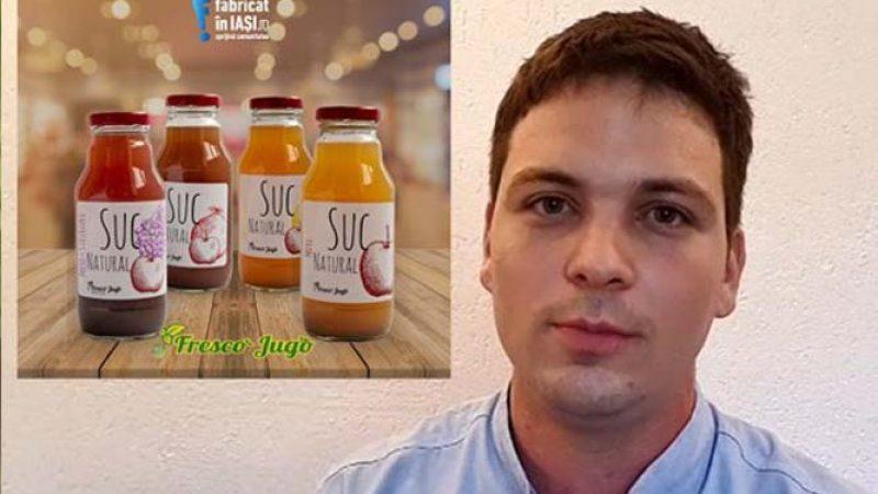 Eduard Prodan a dezvoltat alături de fraţii săi Fresco Jugo, un brand de sucuri din fructe şi legume produse în Iaşi, cu o investiţie de 44.000 de euro prin Start-Up Nation