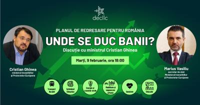 PNRR – Unde se duc banii? Discuție cu ministrul Cristian Ghinea