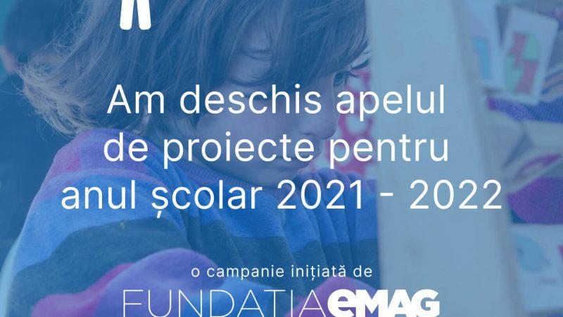 """""""Nouă ne pasă"""" deschide apelul de proiecte pentru anul școlar 2021-2022"""