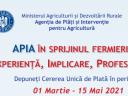 APIA demarează Campaniei de primire a Cererii Unice de Plată în anului 2021